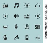 set of 16  song icons. includes ...