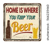 home is where you keep your... | Shutterstock .eps vector #566235460