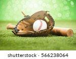baseball glove and ball | Shutterstock . vector #566238064