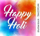happy holi indian spring...   Shutterstock .eps vector #566239144