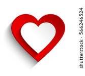 red and white heart | Shutterstock .eps vector #566246524