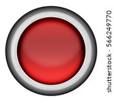 glowing red button with silver... | Shutterstock . vector #566249770