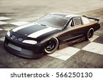 winner s circle  race car posed ... | Shutterstock . vector #566250130