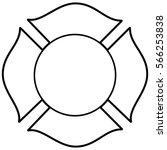 firefighter maltese cross... | Shutterstock .eps vector #566253838