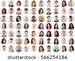 collage of smiling multiethnic... | Shutterstock . vector #566254186