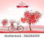 valentine holiday background... | Shutterstock .eps vector #566266354
