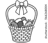 easter basket llustration | Shutterstock .eps vector #566268004