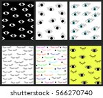 Seamless Pattern With Closed...