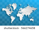 political map of the world.... | Shutterstock .eps vector #566274658