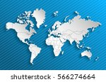 political map of the world.... | Shutterstock .eps vector #566274664