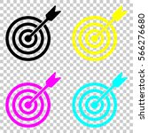 target icon. colored set of...