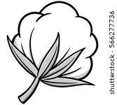 cotton illustration   Shutterstock .eps vector #566277736