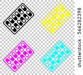 pack pills icon. colored set of ...   Shutterstock .eps vector #566282398