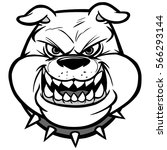 bulldog head on view... | Shutterstock .eps vector #566293144