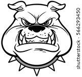 bulldog growl illustration | Shutterstock .eps vector #566293450