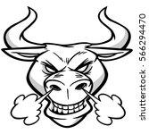 bull head illustration | Shutterstock .eps vector #566294470