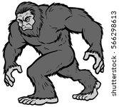 Stock vector bigfoot mascot illustration 566298613