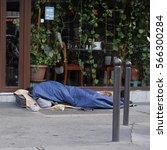 paris  france  february 11 ... | Shutterstock . vector #566300284