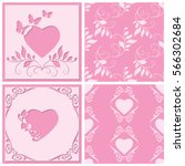 cut paper frame in the form of... | Shutterstock .eps vector #566302684