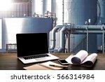 engineering industry concept... | Shutterstock . vector #566314984