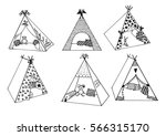 children's wigwams.vector... | Shutterstock .eps vector #566315170