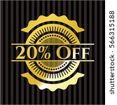 20  off gold badge   Shutterstock .eps vector #566315188