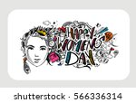 happy women's day greeting card ... | Shutterstock .eps vector #566336314
