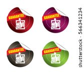 guarantee round stickers.vector | Shutterstock .eps vector #566341234