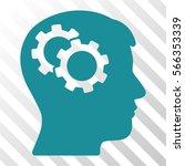 intellect gears vector... | Shutterstock .eps vector #566353339