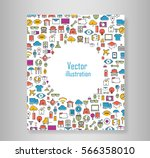 book all line icons color of... | Shutterstock .eps vector #566358010
