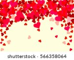 valentines day with heart... | Shutterstock .eps vector #566358064