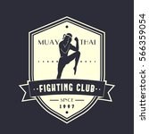 muay thai fighting club vintage ... | Shutterstock .eps vector #566359054