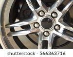 wheel closeup with brake disc... | Shutterstock . vector #566363716