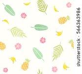 tropical seamless pattern....   Shutterstock .eps vector #566363986
