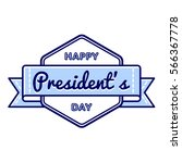 happy presidents day emblem... | Shutterstock . vector #566367778