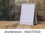 June Calendar 2017 On Wood Table