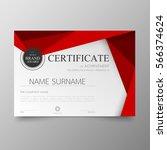 certificate premium template... | Shutterstock .eps vector #566374624