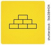 brickwork icon. brick... | Shutterstock . vector #566384434