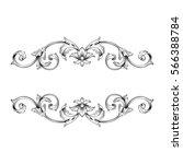vintage baroque ornament retro... | Shutterstock .eps vector #566388784