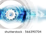abstract technological... | Shutterstock .eps vector #566390704