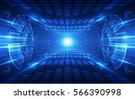 abstract speed technology... | Shutterstock .eps vector #566390998