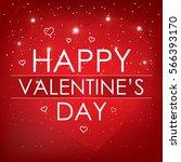 valentine's day banner design ... | Shutterstock .eps vector #566393170