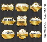 luxury premium golden labels... | Shutterstock .eps vector #566395570