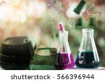 equipment and science... | Shutterstock . vector #566396944