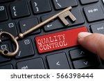 closed up finger on keyboard... | Shutterstock . vector #566398444