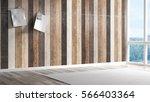 empty bright interior . 3d... | Shutterstock . vector #566403364