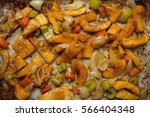 cooked pumpkin slices  celery ...