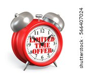 alarm clock limited time offer... | Shutterstock . vector #566407024