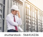 exhausted tired sad... | Shutterstock . vector #566414236