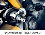 cogwheels machinery  ... | Shutterstock . vector #566420950